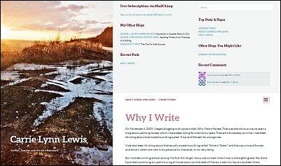 Blog Theme Bushwick with menu