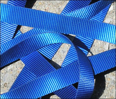 Photo of blue ribbon.