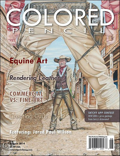 Cover of August 2014 issue of Colored Pencil Magazine
