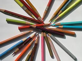 photo of colored pencils