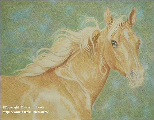 Direct Drawing Tutorial - Palomino Horse - Second Color Layers Step 5