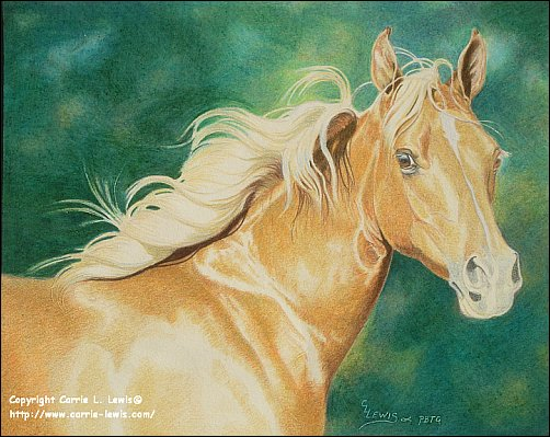 Direct Drawing Tutorial - Palomino Horse - Third Color Layers Step 4