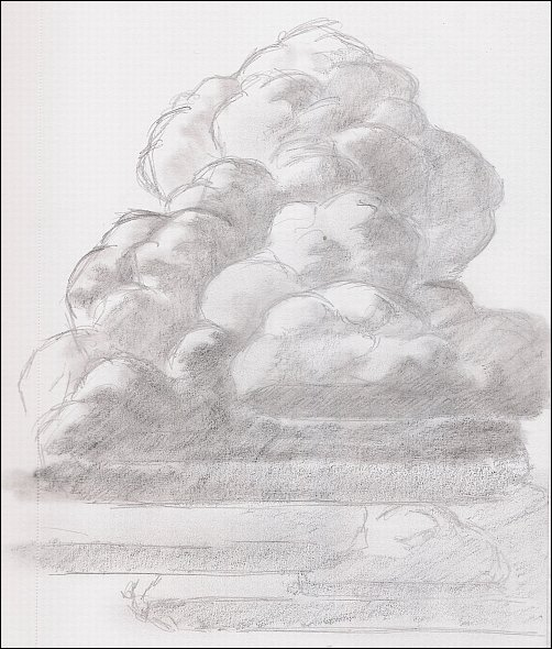 Drawing Mini Clinic - How to Draw Thunderhead Clouds, Demo 1, Part 4