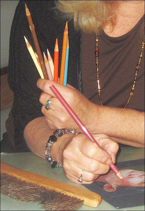 Ann Kullberg Teaching - A handful of colored pencils