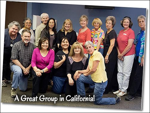 Ann Kullberg Teaching - Ann and students in California