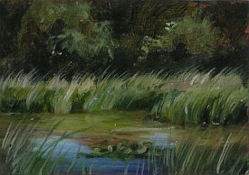 Original ACEO Landscape in Oils by Carrie L. Lewis