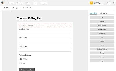 Beyond the Basics MailChimp Signup Form, Screenshot 10