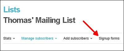 How to Create a Signup Form with MailChimp Screen Shot 3