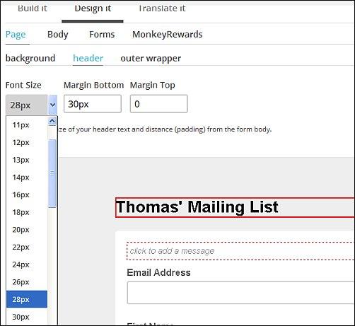 MailChimp Design Options, Screen Shot 6