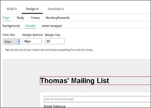 MailChimp Design Options, Screen Shot 7