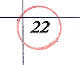 Saturday 22 Circled