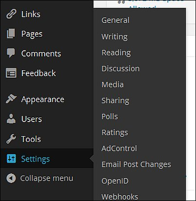 Wordpress General Settings, Screen Shot 1