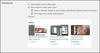 Reader settings for free WordPress blogs screen shot 15