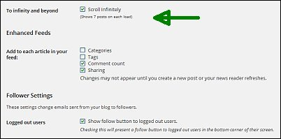 Reader settings for free WordPress blogs screen shot 16