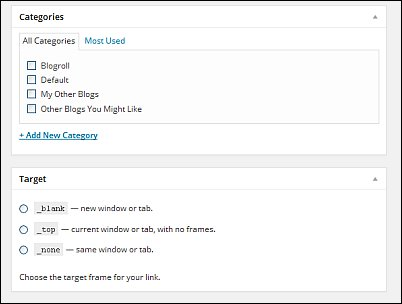 WordPress Links Screen Shot 4