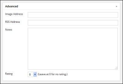 WordPress Links Screen Shot 6