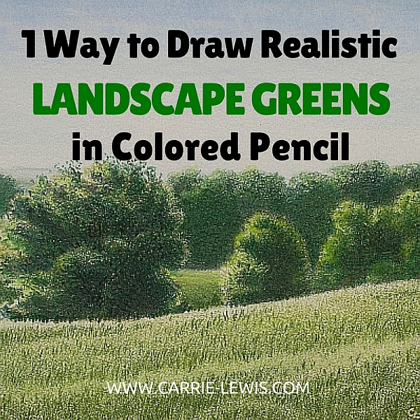 1 Way to Draw Realistic Landscape Greens