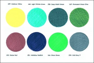 Palette of Water Soluble Colored Pencil