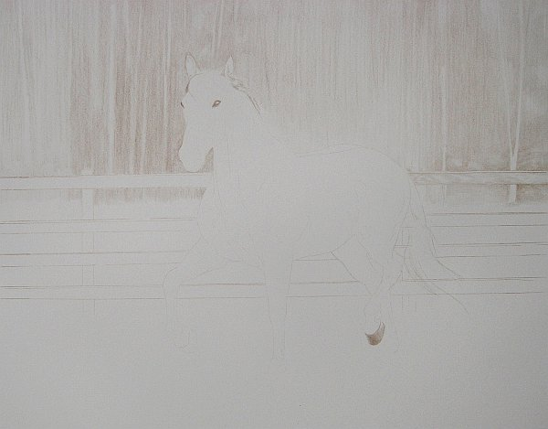 Umber Under Drawing Step 2