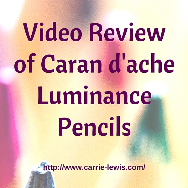 Video Review of Caran d'ache Luminance Colored Pencils