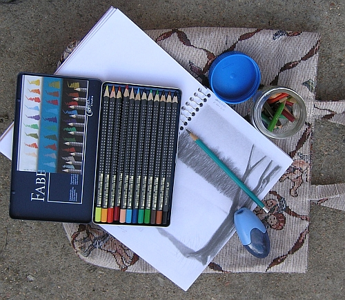 Putting Together a Field Kit - My Colored Pencil Field Kit