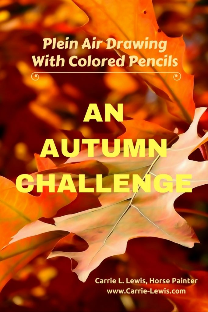 Colored Pencil Plein Air Drawing Autumn Challenge