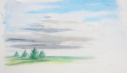 Colored Pencil Plein Air Drawing Week 3