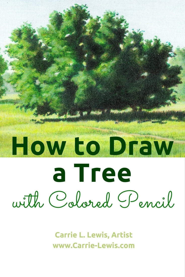 How To Draw a Tree with Colored Pencil