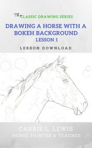 Drawing a Horse with a Bokeh Background Lesson 1